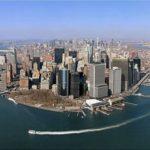 Нью-Йорк с высоты птичьего полёта.