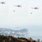 Вертолет над городом.